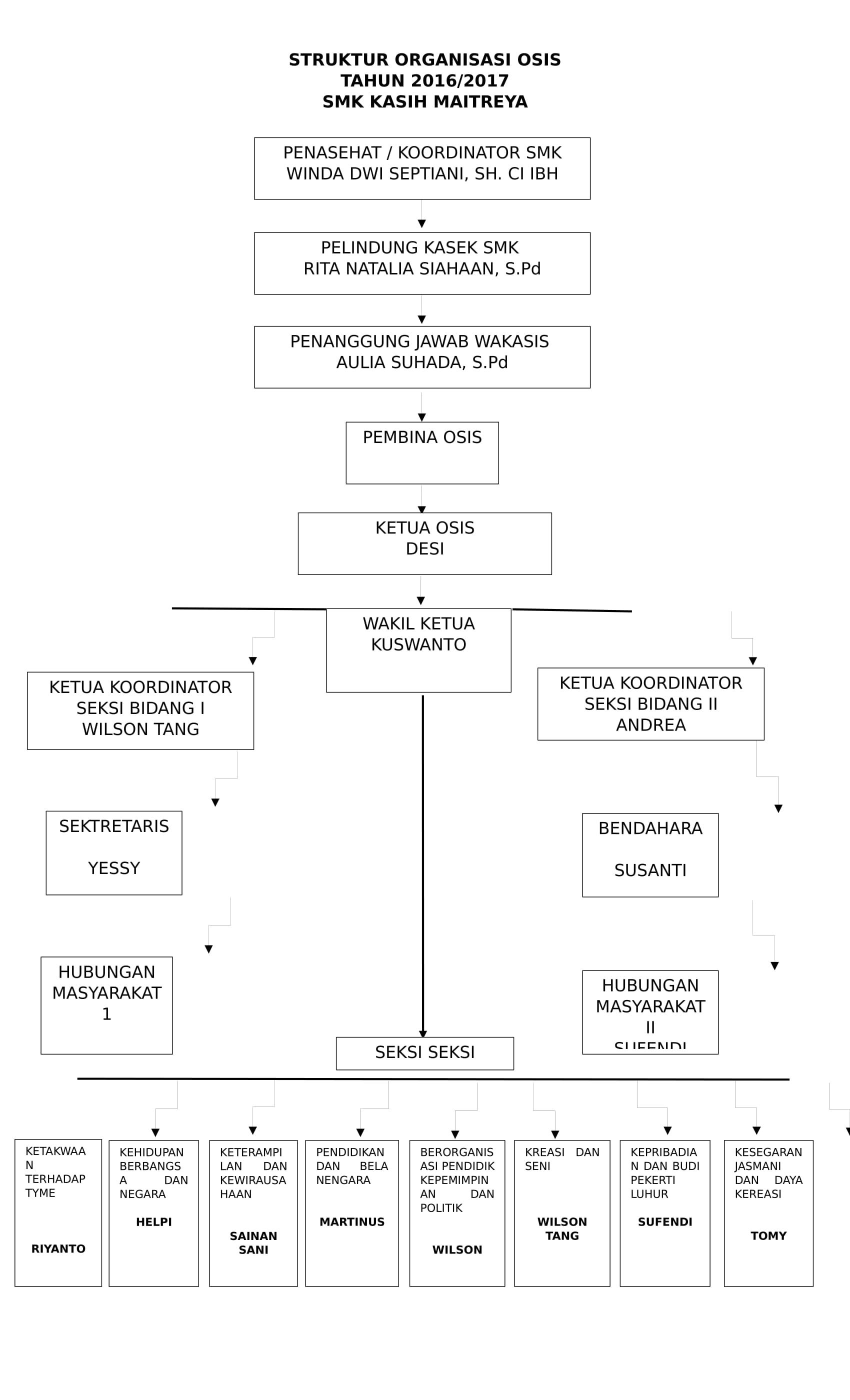 Struktur Organisasi OSIS